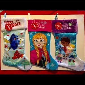 CHRISTMAS DISNEY STOCKING  3pcs.